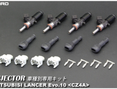 Lancer Evolution X - CZ4A - Output: 900cc - Color: Black - Impedance: High (13 ohm) - Hole: 7 - Dead Time: 1.5 msec - Quantity: 4 - 63817