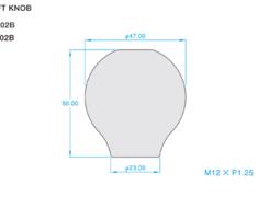 Toyota - Colour: Titanium Blue - Length: 50mm - Thread: M12 x P1.25 - ONT02B