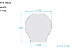86 - ZN6 - Colour: Titanium Blue - Length: 50mm - Thread: M12 x P1.25 - ONT03B