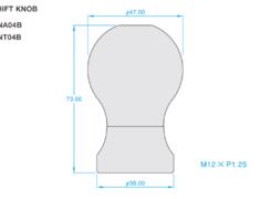 Silvia - S15 - Colour: Titanium Blue - Length: 73mm - Thread: M12 x P1.25 - ONT04B