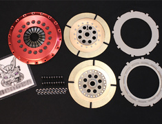 Lancer Evolution - CD9A - O/H Kit B - Clutch disc ×2, center plate ×1, pressure plate, clutch cover, cover bolts (required n