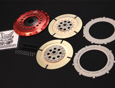 EVO - CD9A - O/H Kit B - Clutch disc ×2, center plate ×1, pressure plate, clutch cover, cover bolts (required n