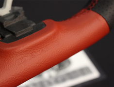 Forester - SG5 - Formula - Type: D-Shape - Color: Black/Red - Diameter: 358mm - Stitch: Red - SS358-D(F)