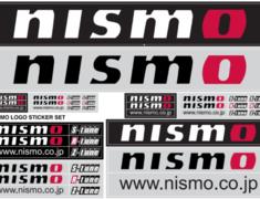 Nissan - NISMO Logo Sticker Set - Size: A4 - 99992-RN237