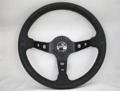 Car Make T&E - Vertex - Steering Wheel - KING OF VERTEX - Black Leather - 330mm