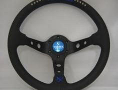 Car Make T&E - Vertex - Steering Wheel - Black Leather - 10 Stars Blue