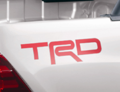 Hilux - GUN125 - 507 TRD Logo Sticker - Colour: Red - MS316-0K001