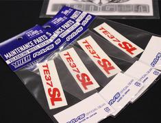 """- TE37SL Rim Sticker for 17/18/19"""" - Colour: Red - Quantity: 4 - No.11 RD - Set of 4"""