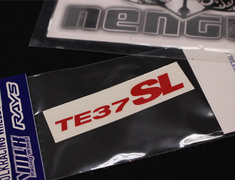 "- TE37SL Rim Sticker for 17/18/19"" - Colour: Red - Quantity: 1 - No.11 RD"