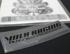 "- Volk Racing & Rays Engineering Spoke Sticker for 19"" - Colour: Metal Black - Quantity: 4 - No.10 MB 19"" - Set of 4"