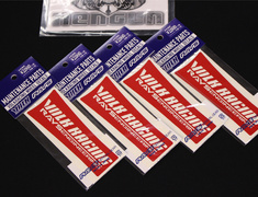 """- Volk Racing & Rays Engineering Spoke Sticker for 19"""" - Colour: Red - Quantity: 4 - No.10 RD 19"""" - Set of 4"""