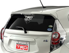 Aqua - NHP10 - Tailgate Spoiler  - Colour: Lime white pearl CS (082) - MS316-52001-A1