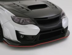 Impreza WRX STI - GRB - Front Bumper Ver.2 (2 Pieces) - Main Body FRP + Lip CARBON - Construction: FRP/Carbon - VASU-151