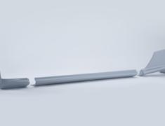 Skyline GT-R - BNR32 - Mudguard-CTR Assembly LH - OEM Part Number: G6853-05U03+G6857-06U00+G6857-06U10 - 76851-RJR20