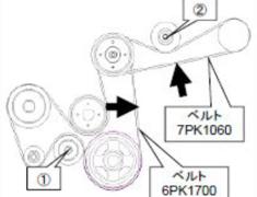 Fairlady Z - 350Z - Z33 - Belt: 7PK1060 S/C Pulley Side for GTS7040 - 24996-AK023