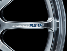 - ADVAN Racing RS-DF Progressive Spoke Sticker - Colour: Silver - Quantity: 2 - Wheel: Machining & Racing Hyper Black / Racing Titanium Black / Dark Bronze Metallic - V2381