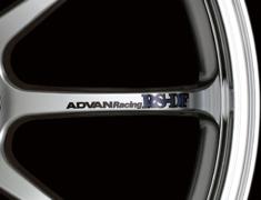 - ADVAN Racing RS-DF Spoke Sticker - Colour: Black - Quantity: 2 - Wheel: Machining & Racing Hyper Silver - V0987