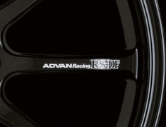 - ADVAN Racing RS-DF Spoke Sticker - Colour: White - Quantity: 2 - Wheel: Racing Gloss Black / Racing Hyper Bronze - V0988