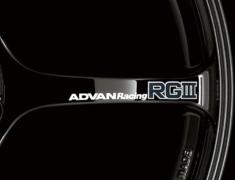 - ADVAN Racing RGIII Spoke Sticker - Colour: White - Quantity: 2 - Wheel: Racing Gloss Black - V1173