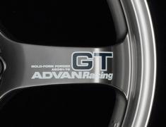 - ADVAN RACING GT Spoke Sticker - Colour: Silver - Quantity: 2 - Wheel: Machining & Racing Metal Black - V1401