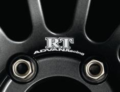 - ADVAN Racing RT dedicated sticker between nut holes - Colour: White - Quantity: 2 - Wheel: Dark Gun metallic - V0212