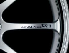 - ADVAN Racing RS-D Spoke Sticker - Colour: Dark Blue - Quantity: 2 - Wheel: Machining & Silver / Bright Chrome - Z9339