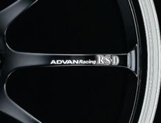 - ADVAN Racing RS-D Spoke Sticker - Colour: White - Quantity: 2 - Wheel: Machining & Black / Matte Black - Z9340