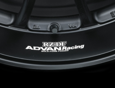 - ADVAN Racing RZ-DF Rim Sticker - Colour: White - Quantity: 2 - Wheel: Matt Black / Racing Red - Z9851