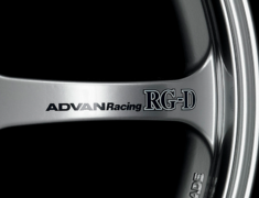 - ADVAN Racing RG-D Spoke Sticker - Colour: Dark Blue - Quantity: 2 - Wheel: Racing Hyper Silver / Gold - Z9857