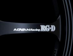 - ADVAN Racing RG-D Spoke Sticker - Colour: White - Quantity: 2 - Wheel: Matte Black - Z9858