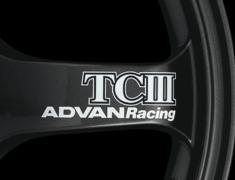 - ADVAN Racing TCIII Spoke Sticker - Colour: White - Quantity: 2 - Wheel: Dark Gun metallic - V0226
