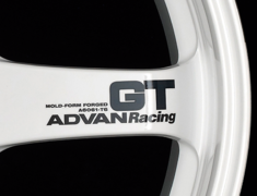 - ADVAN RACING GT Spoke Sticker - Colour: Dark Blue - Quantity: 2 - Wheel: Machining & Racing Hyper Black / Racing White - V0617