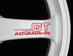 - ADVAN RACING GT Spoke Sticker - Colour: Racing Red - Quantity: 2 - Wheel: Racing White - V0619