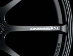 - ADVAN RS II Spoke Sticker - Colour: White - Quantity: 2 - Wheel: Semi Gloss Black / Racing Red - V0621