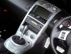 Fairlady Z - 350Z - Z33 - Interior 4 Piece Set - LHD AT with TV/Navigation - Color: Silver - Material: Carbon - INS-Z33-K
