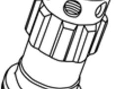 - Replacement Lock Nut - Colour: Black - Thread: M12xP1.25 - Taper: Blue - YLI3KU