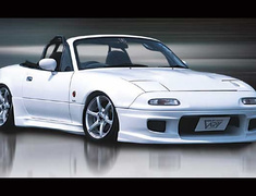 Roadster - NA6CE - Front Bumper Spoiler Type N - Material: FRP - Color: Unpainted - 4005