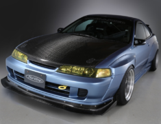 Integra Type R - DC2 - Wide Body Kit: Front Spoiler + Front Fender + Side Skirts + Rear Fenders - Construction: 12K Carbon/