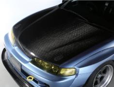 Integra Type R - DC2 - 12K Carbon Bonnet - Construction: 12K Carbon - Colour: Unpainted - HB-H02