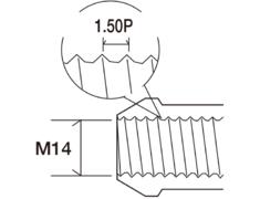 - Colour: Black - Thread: M14X1.50P - Length: 40mm - Quantity: 4 - Taper: 60 degrees - V3047