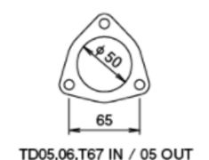 - TD05(H) - Without Actuator - Outlet - Metal - 11900130