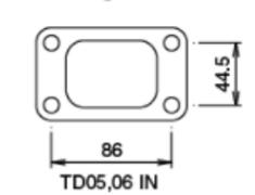 - TD06SH (16cm) - Without Actuator - Inlet - Metal - 11900131