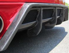 GT-R - R35 - REAR DIFFUSER with BOTTOM LINE - Construction: Carbon - Colour: - - 000275cc