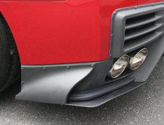 GT-R - R35 - REAR UNDER SIDE COWL - for ChargeSpeed REAR DIFFUSER with BOTTOM LINE - Construction: Carbon - Colou