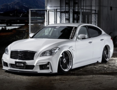 Fuga - Y51 - Full Kit: Front Bumper + Side Step + Rear Bumper - Construction: FRP - Colour: Unpainted - VIPGT-Y51