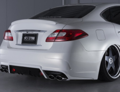 Fuga - Y51 - Rear Bumper (back fog light included) - Construction: FRP - Colour: Unpainted - VIPGT-Y51-RB