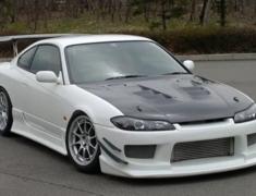Silvia - S15 - Front Bumper - Construction: FRP - Colour: Unpainted - GM-REV-S15-T3-FB