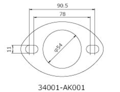 - Set of 2 - 52mm Diameter - 34001-AK001