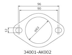 - Set of 2 - 60mm Diameter - 34001-AK002