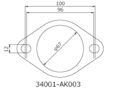- Set of 2 - 65mm Diameter - 34001-AK003